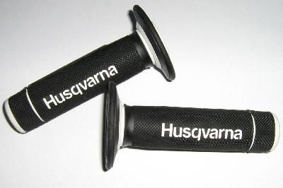 COPPIA MANOPOLE HUSQVARNA BIANCO NERO