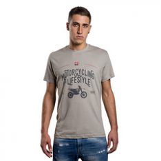 T-SHIRT BETA MOTORCYCLING IS A LIFESTYLE GRIGIA