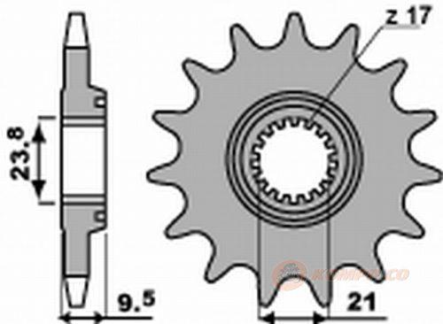 2134 PIGNONE HONDA CRF R-X 450 04-12