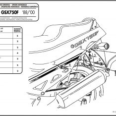 LATERALI MONORACK SUZUKI GSX 750 F 88-97